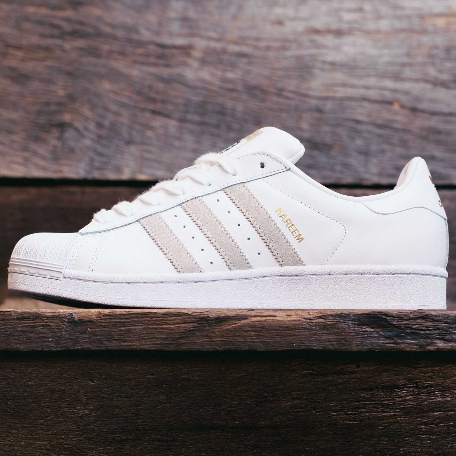 adidas superstar white grey stripes
